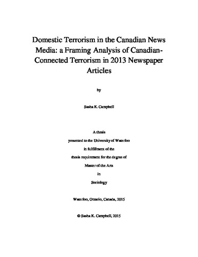 an analysis of terrorism and the media