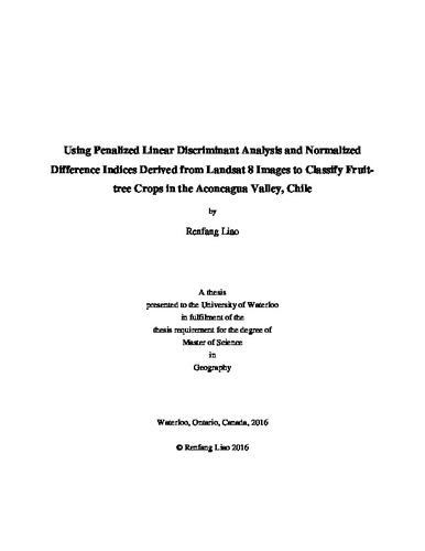Using Penalized Linear Discriminant Analysis and Normalized
