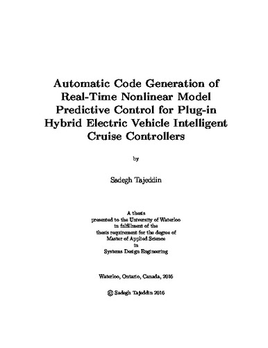 Automatic Code Generation of Real-Time Nonlinear Model