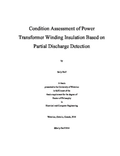 Condition Assessment of Power Transformer Winding