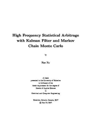High Frequency Statistical Arbitrage with Kalman Filter and Markov
