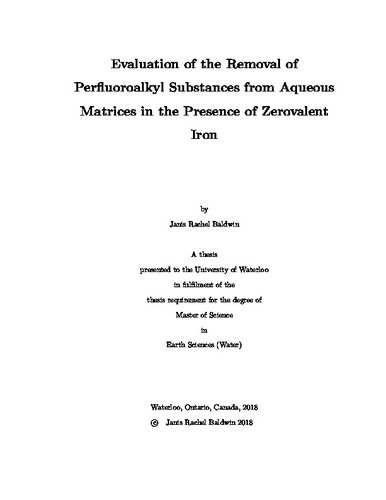 Evaluation of the Removal of Perfluoroalkyl Substances from