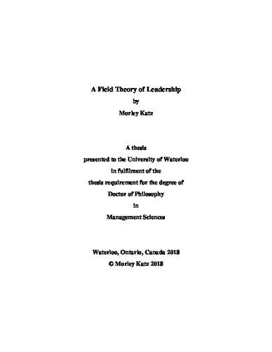 ff1ca3632cc A Field Theory of Leadership