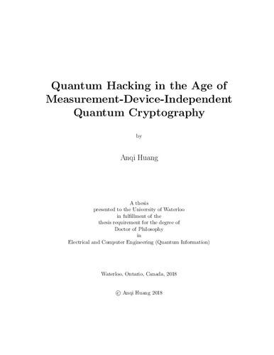 Quantum key distribution thesis esl mba essay ghostwriters service us