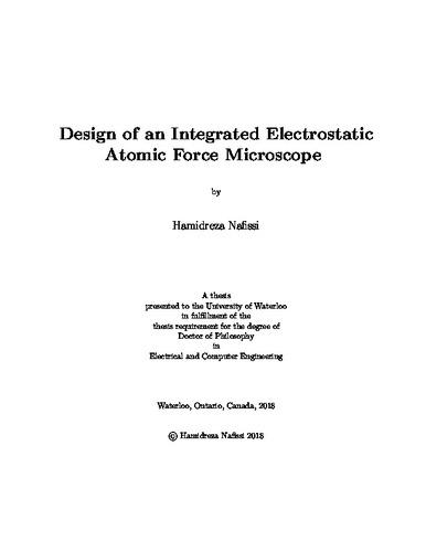 Atomic force microscopy phd thesis