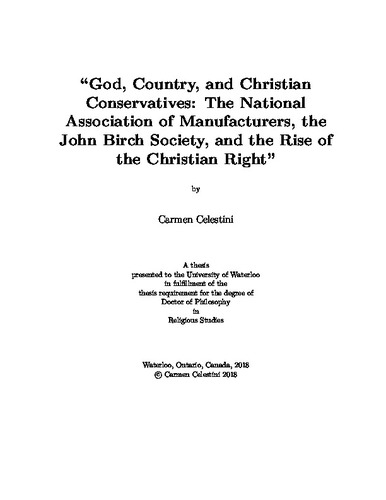 God, Country, and Christian Conservatives: The National