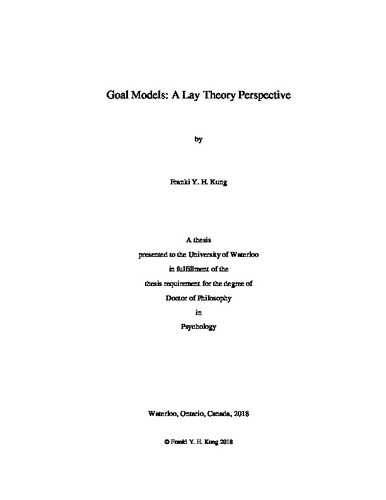 Goal Models: A Lay Theory Perspective