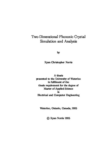phononic crystal thesis