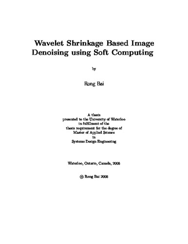 thesis report on image denoising