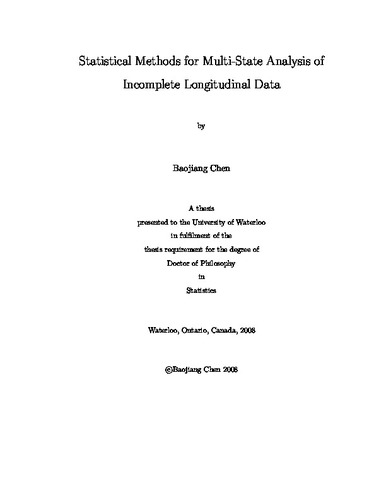 Statistical Methods for Multi-State Analysis of Incomplete