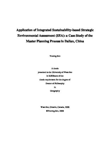 Application of Integrated Sustainability-based Strategic