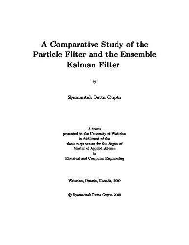 A Comparative Study of the Particle Filter and the Ensemble