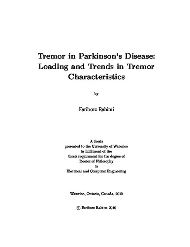 Tremor in Parkinson's Disease: Loading and Trends in Tremor