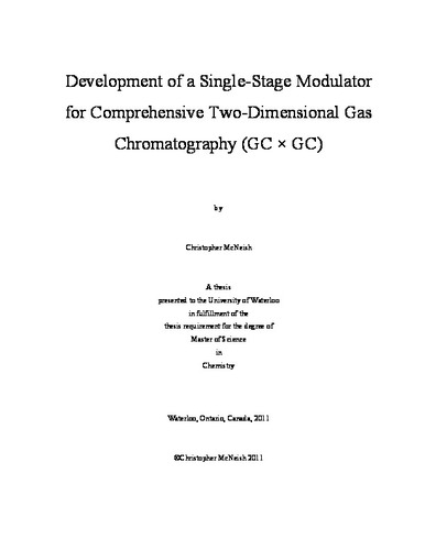 Development of a Single-Stage Modulator for Comprehensive