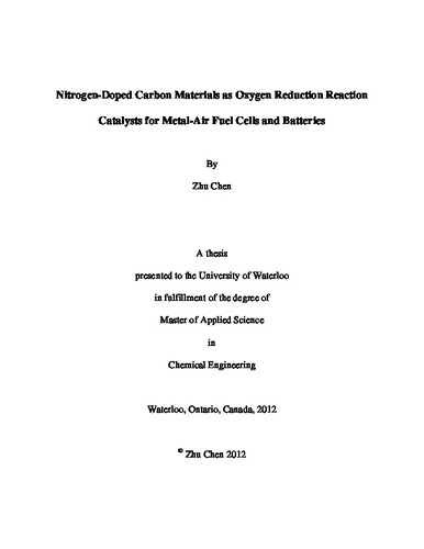 oxygen reduction reaction thesis Investigations of oxygen reduction reactions in non-aqueous electrolytes and the lithium-air battery  chapter 5 is the culmination of the thesis where the .