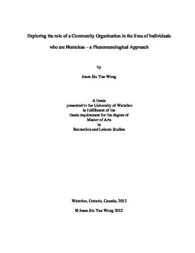 phenomenological community