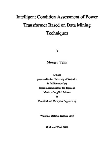 Intelligent Condition Assessment of Power Transformer Based
