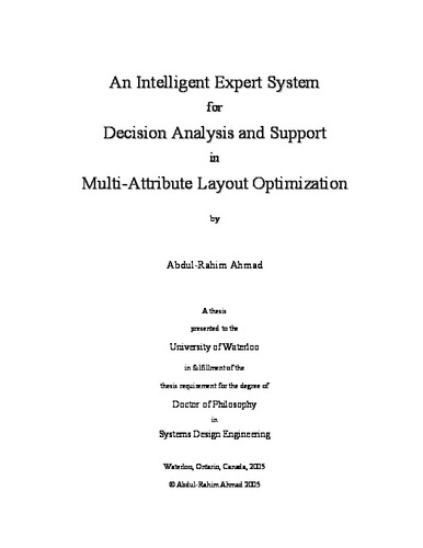 An Intelligent Expert System for Decision Analysis and