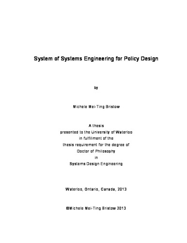 thesis systems engineering
