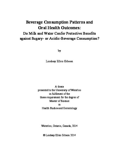 Beverage Consumption Patterns And Oral Health Outcomes Do Milk And Unique Consumption Patterns