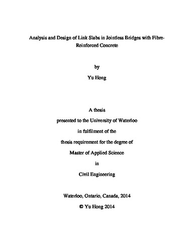 Analysis and Design of Link Slabs in Jointless Bridges With