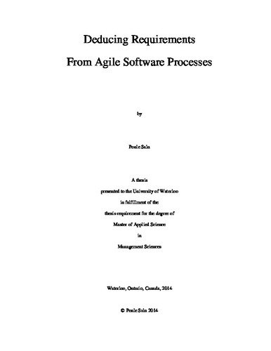deducing requirements from agile software processes - What Is Agile Methodology Pdf