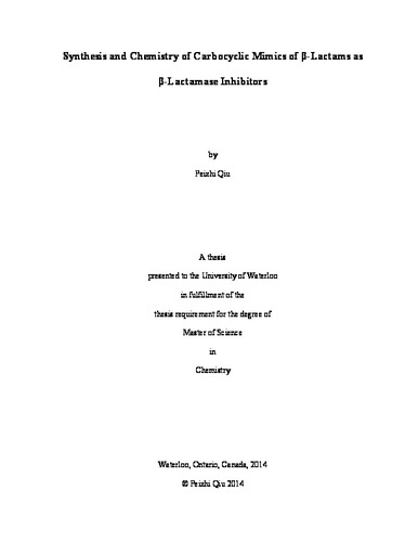 thesis on metallo beta lactamase