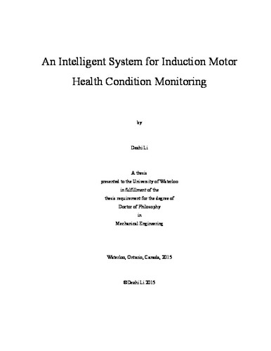 An Intelligent System for Induction Motor Health Condition Monitoring
