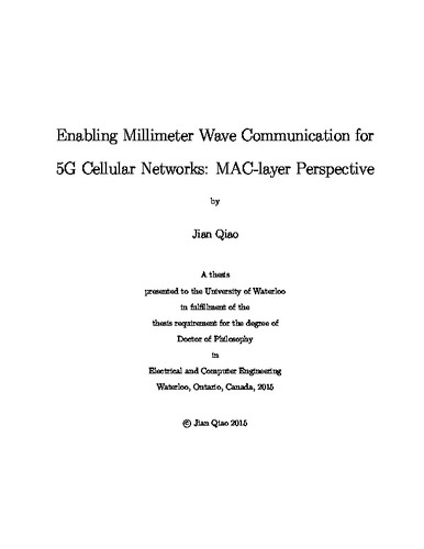 Enabling Millimeter Wave Communication for 5G Cellular