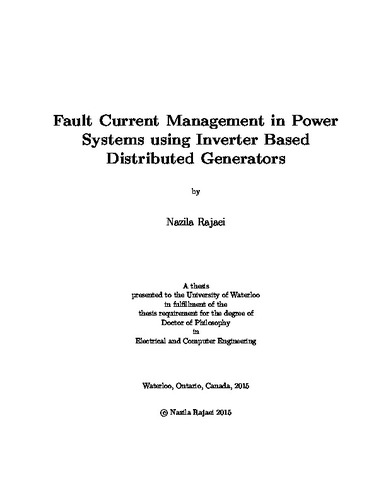 Fault Analysis In Power System Using Matlab Pdf