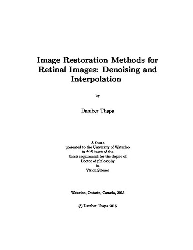 thesis on image denoising