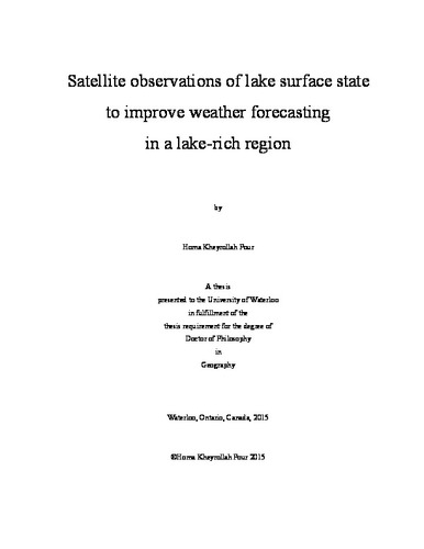 Satellite observations of lake surface state to improve