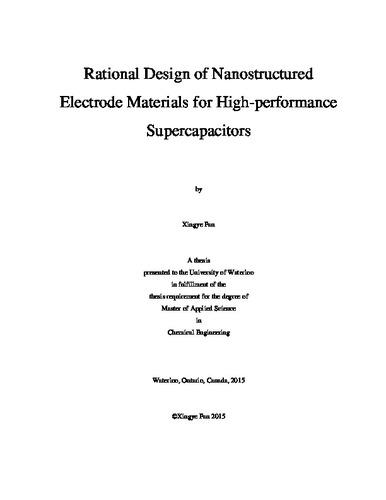 Rational Design of Nanostructured Electrode Materials for High
